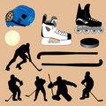 Hockey collection Royalty Free Stock Image