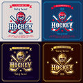 Hockey emblem. Royalty Free Stock Photo