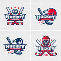 Hockey emblem template Royalty Free Stock Photo
