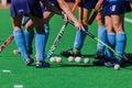 Hockey Girls Sticks Balls Astro Colors Royalty Free Stock Photo