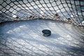 Hockey goal Royalty Free Stock Photos