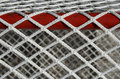 Hockey goal net, detail Royalty Free Stock Photo