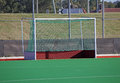 Hockey goals field on a synthetic field Royalty Free Stock Photo