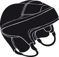 Hockey helmet for the player sports equipment Stock Image
