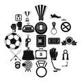 Hockey icons set, simple style Royalty Free Stock Photo