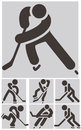 Hockey icons set winter sport Royalty Free Stock Photo