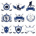 Hockey labels and icons set vector Stock Images