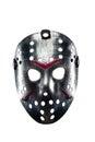 Hockey mask of serial killer isolated on white Royalty Free Stock Photo
