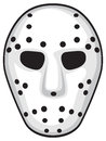 Hockey mask white security Royalty Free Stock Image