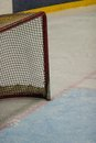 Hockey net on the ice Stock Photos
