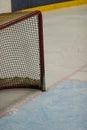 Hockey net on the ice Stock Photos