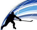 Hockey player silhouette Royalty Free Stock Photos