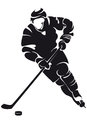 Hockey player, silhouette Royalty Free Stock Photography