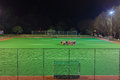 Hockey players group night practice astro for young teenage male and female at kearney college club astro turf pitch photo image Royalty Free Stock Photography