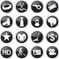 Hockey sport icon set related Royalty Free Stock Photography