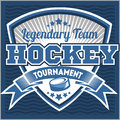 Hockey team logo template. Emblem, logotype Royalty Free Stock Photo
