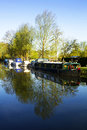 Hoe mill canal scene at in essex Stock Photo