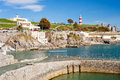 The hoe plymouth devon beautiful summers day at england uk europe Royalty Free Stock Photography