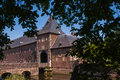 Hoensbroek castle or gebrookhoes gebrook dutch kasteel is one of the largest castles in the netherlands Stock Image