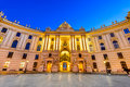 Hofburg vienna austria palace seen from michaelerplatz wide angle view at dusk habsburg empire landmark in vienn Royalty Free Stock Photos