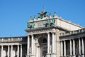 Hofburg vienna landmark and historic building on the heldenplatz Royalty Free Stock Photos