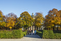 Hofgarten and the Bavarian State Chancellerey in Munich, Germany