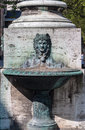 Hofgarten munich germany a green bronze fountain in bavaria Royalty Free Stock Photo