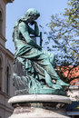 Hofgarten munich germany a green bronze statue of a sitting contemplative woman in bavaria Stock Images