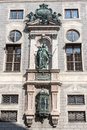 Hofgarten munich germany a historical building with copper statues in downtown bavaria Stock Photo