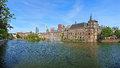 Hofvijver pond with the binnenhof complex in the hague court netherlands Royalty Free Stock Image
