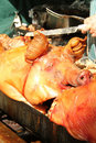 Hog roast Stock Photos