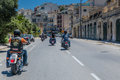 Hog world ride malta june malta chapter members gather up on the occasion of harley davidson harley owners group is made up of Royalty Free Stock Image