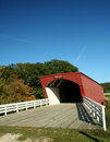 Hogback Covered Bridge in Madison County 3 Royalty Free Stock Photo