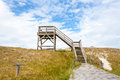 Hohe duene observation tower at the near pramort zingst germany Stock Images