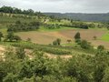 Hohenlohe idyllic rural landscape in an area in southern germany Stock Images