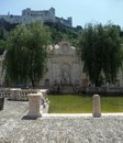 Hohensalzburg castle idyllic scenery including in salzburg a city in austria Royalty Free Stock Photos