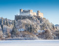 Hohensalzburg Fortress in Salzburg in winter, Salzburger Land, Austria Royalty Free Stock Photo