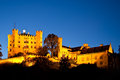 Hohenschwangau castle by night, Bavaria Royalty Free Stock Photo