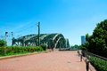 Hohenzollern bridge also called the love in koln germany Stock Photo