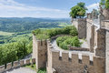 Hohenzollern castle in baden wurttemberg germany burg at the swabian region of Royalty Free Stock Photos