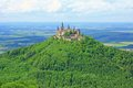 Hohenzollern castle germany view from the top of zeller horn to in the swabian alb baden wuerttemberg Royalty Free Stock Photo