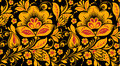 Hohloma seamless pattern in classic colors
