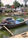 Hoi anh river boat vietnam Royalty Free Stock Photos