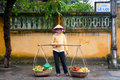 Hoi An fruit seller Stock Photo
