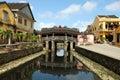 Hoi An japanese bridge heritage site by Unesco, Vietnam Royalty Free Stock Photo