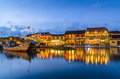 Hoi An reflected in the river Royalty Free Stock Photo