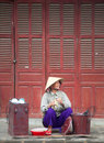 Hoi An street seller Stock Photo