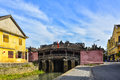 Hoi An, Vietnam - September 02, 2013: The woman is on the Japanese covered bridge Royalty Free Stock Photo