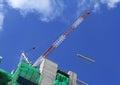 Hoist crane working Royalty Free Stock Photo