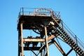 Hoist wheel at a coal mine used shaft Royalty Free Stock Image